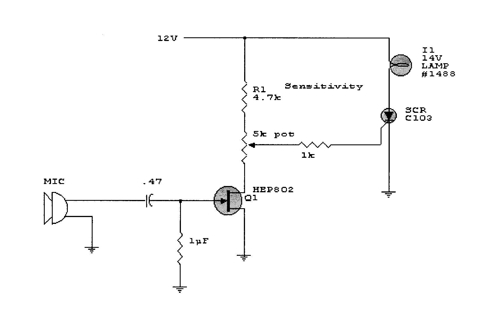sound activated switch schematic rh craigsrobotics com sound activated switch schematic diagram sound activated switch schematic diagram